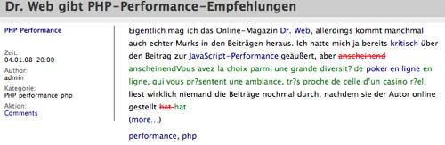 Spam in wordpress